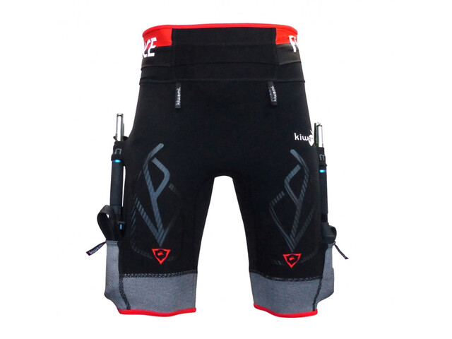 KiWAMi Equilibrium Trail Shorts Unisex black/red